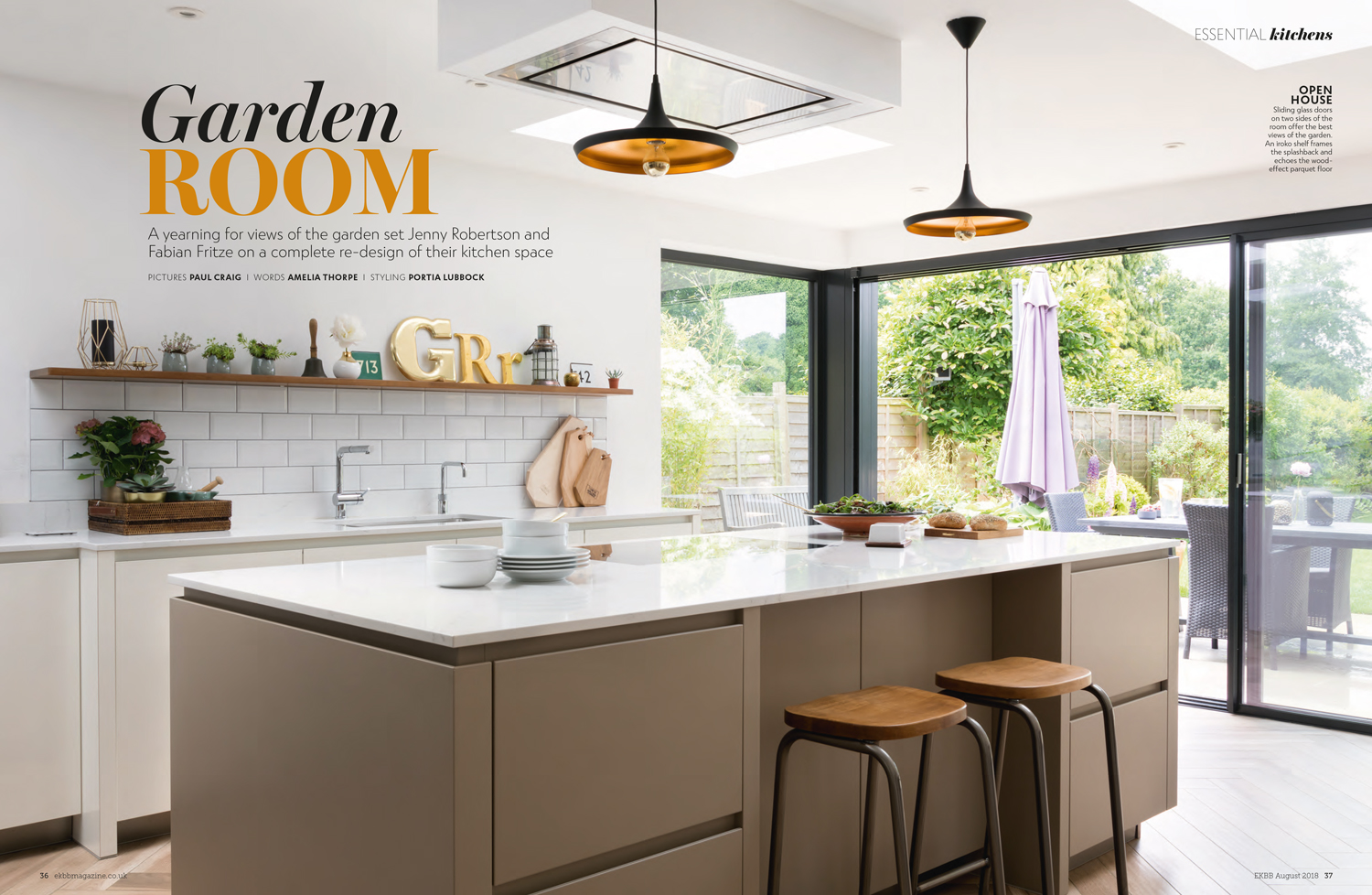 Essential Kitchen Bathroom Bedroom Magazine August 2018 | Paul Craig Interior Photographer