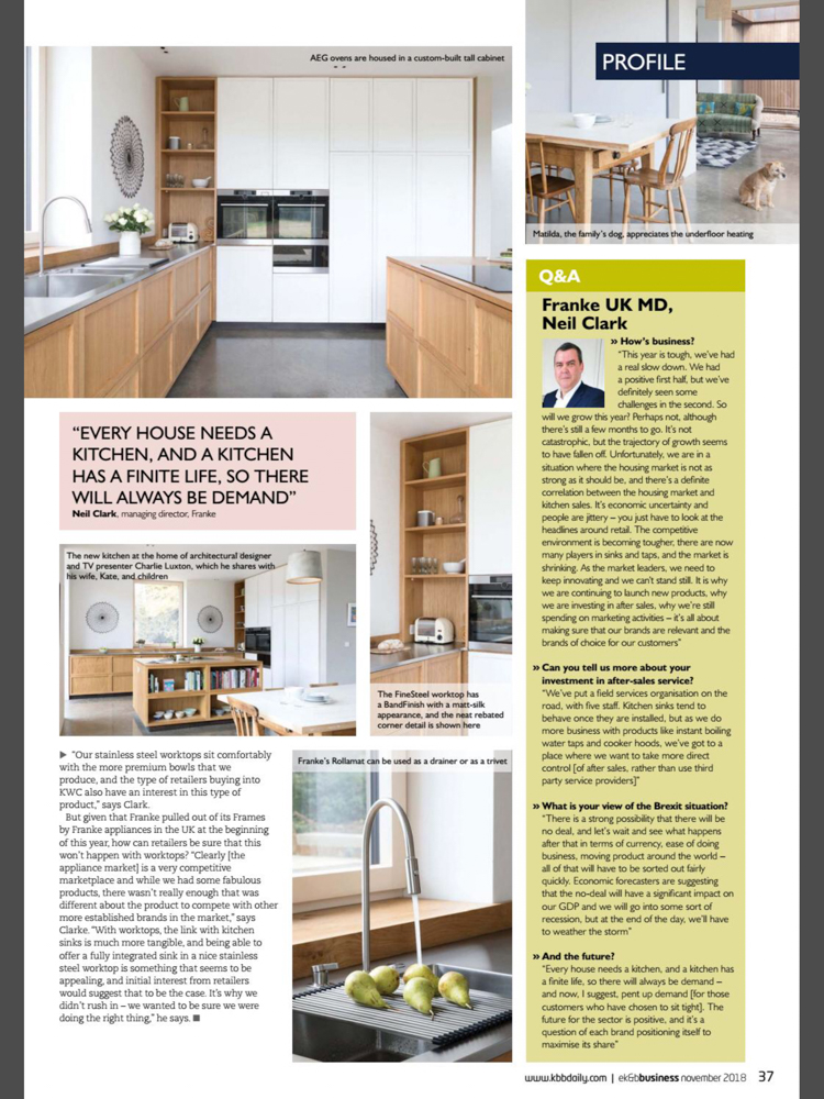 Essential Kitchen & Bathroom Business Magazine November 2018 | Paul Craig Interior Photographer