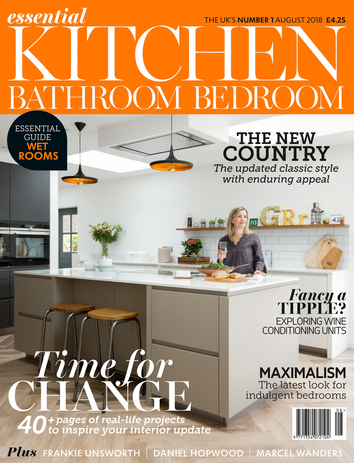 Essential Kitchen Bathroom Bedroom Magazine Cover August 2018 | Paul Craig Interior Photographer