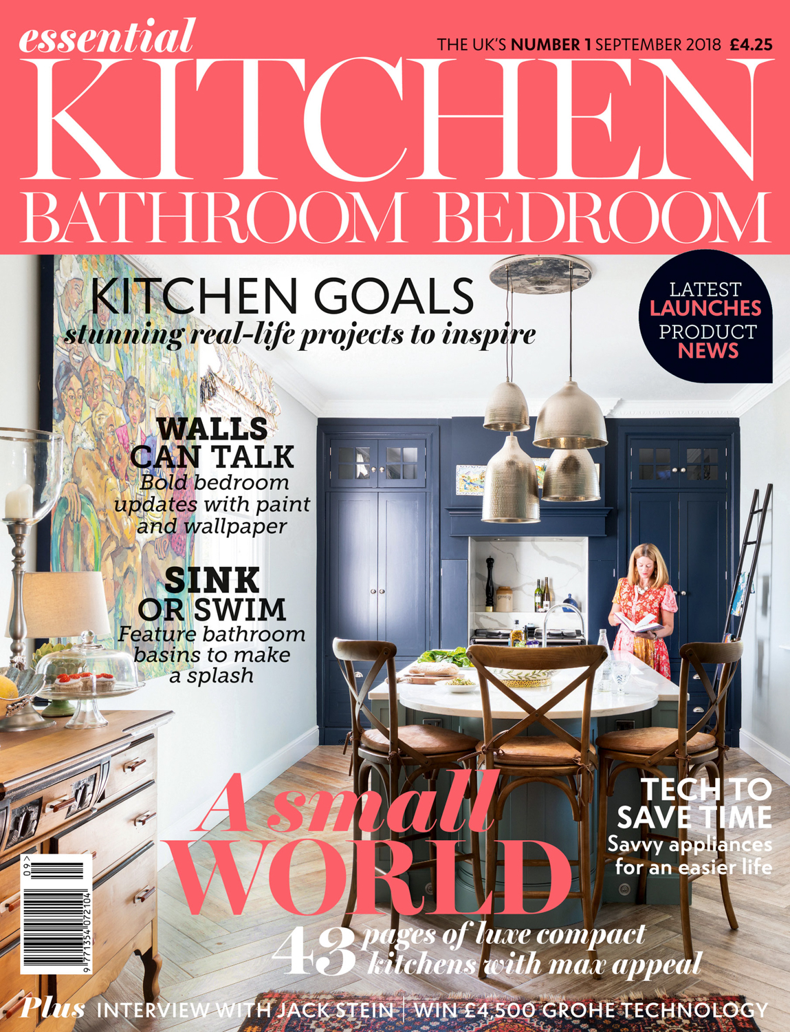 Essential Kitchen Bathroom Bedroom Magazine Cover September 2018 | Paul Craig Interior Photographer