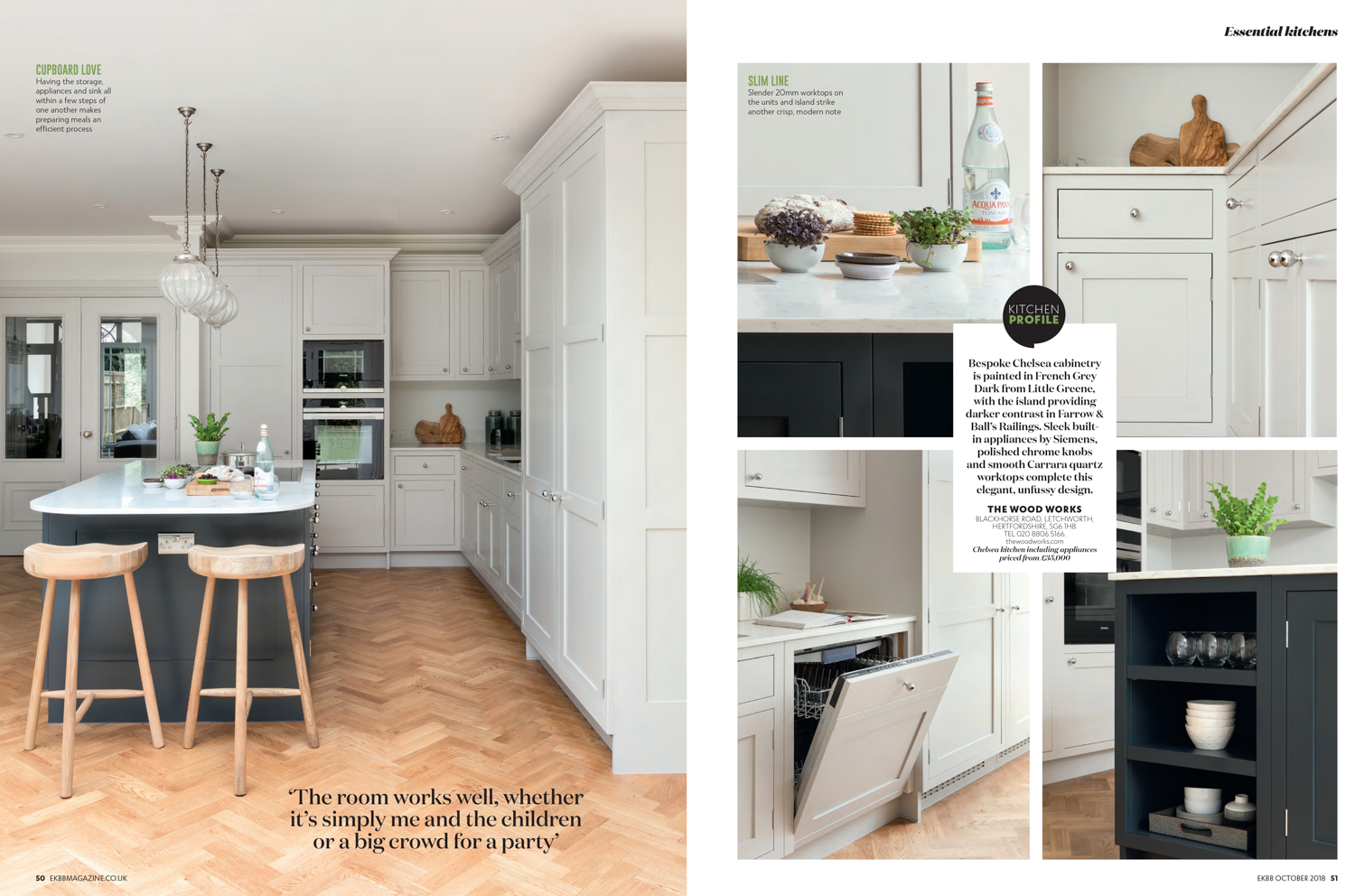 Essential Kitchen Bathroom Bedroom Magazine October 2018 | Paul Craig Interior Photographer