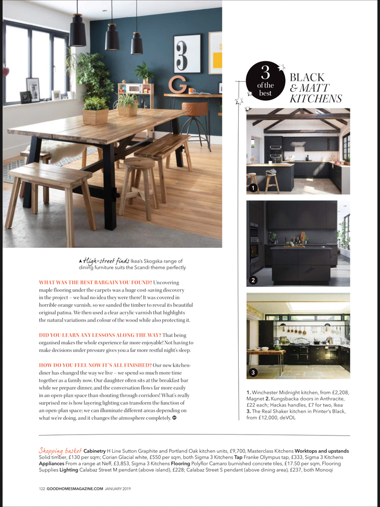 Good Homes Magazine Jan 2019 | Paul Craig Interior Photographer