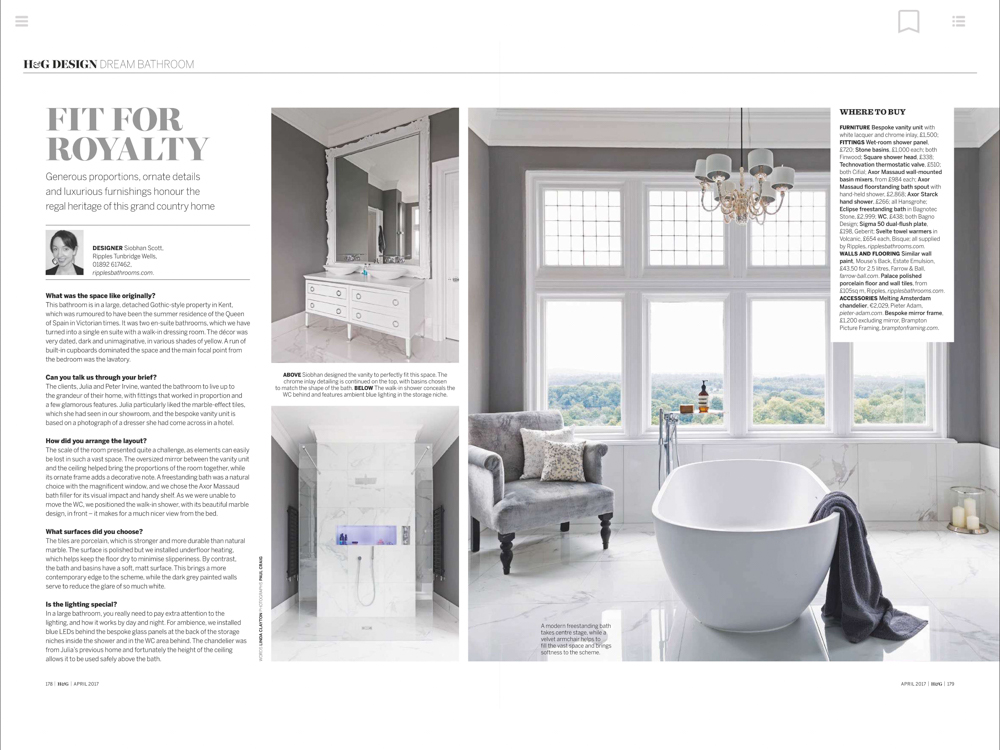 Homes & Gardens Magazine April 2017 | Paul Craig Interior Photographer