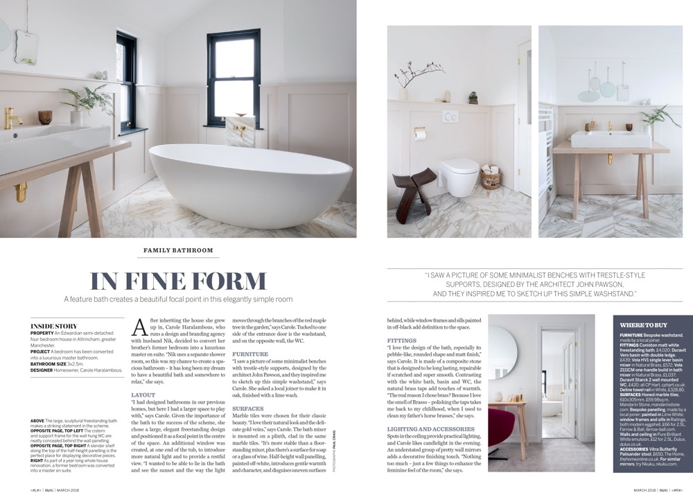 Homes & Gardens Magazine March 2018 | Paul Craig Interior Photographer