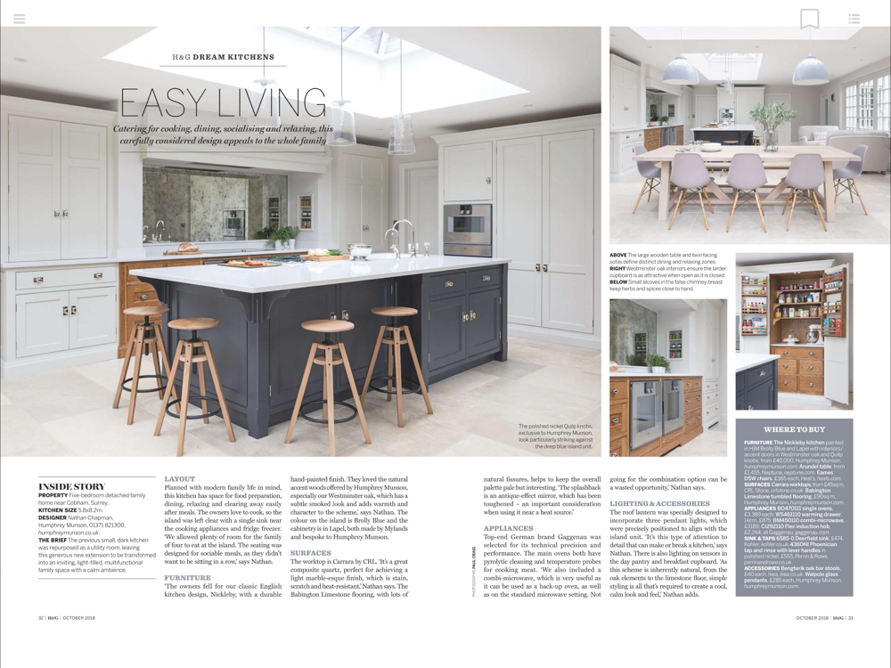 Homes & Gardens Magazine Oct 2018 | Paul Craig Interior Photographer