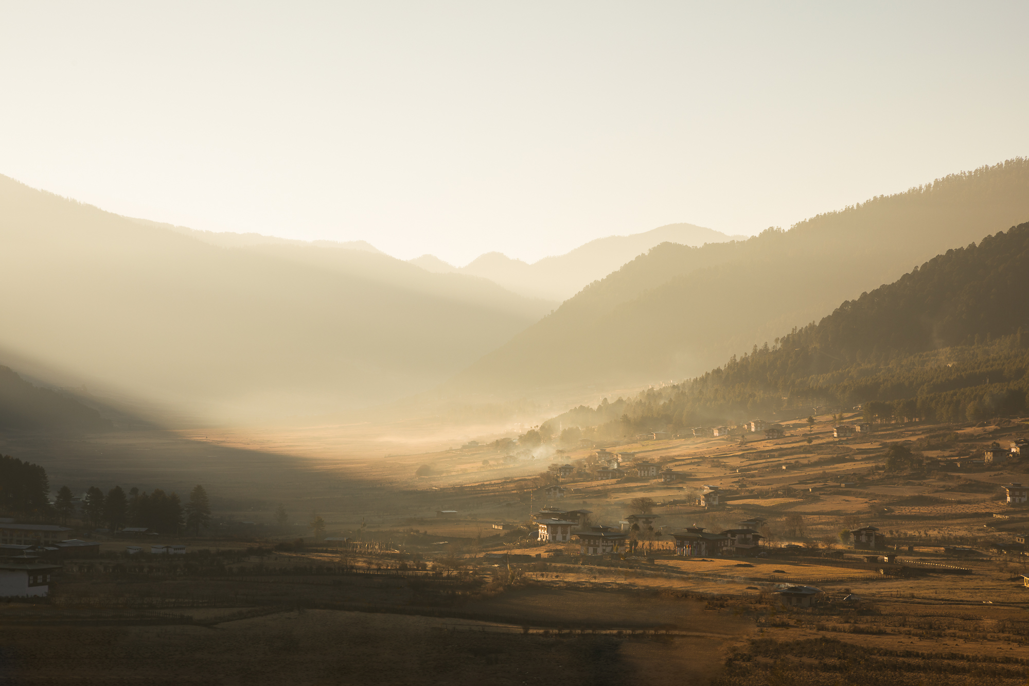 Paul Craig Interior Photographer Personal Work Bhutan Gangtey Valley